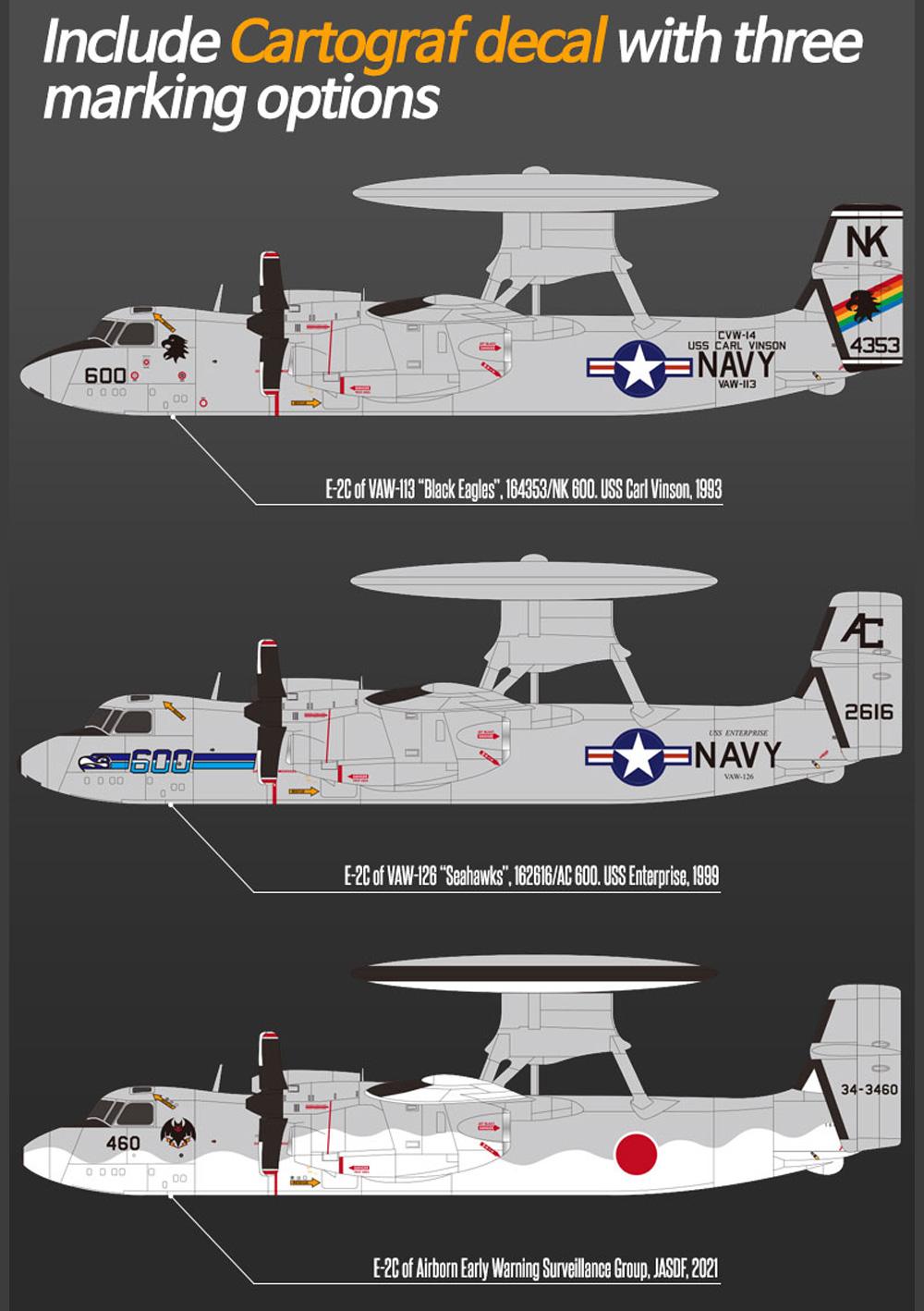 USN E-2C ホークアイ VAW-113 ブラックイーグルスプラモデル(アカデミー1/144 Scale AircraftsNo.12623)商品画像_2