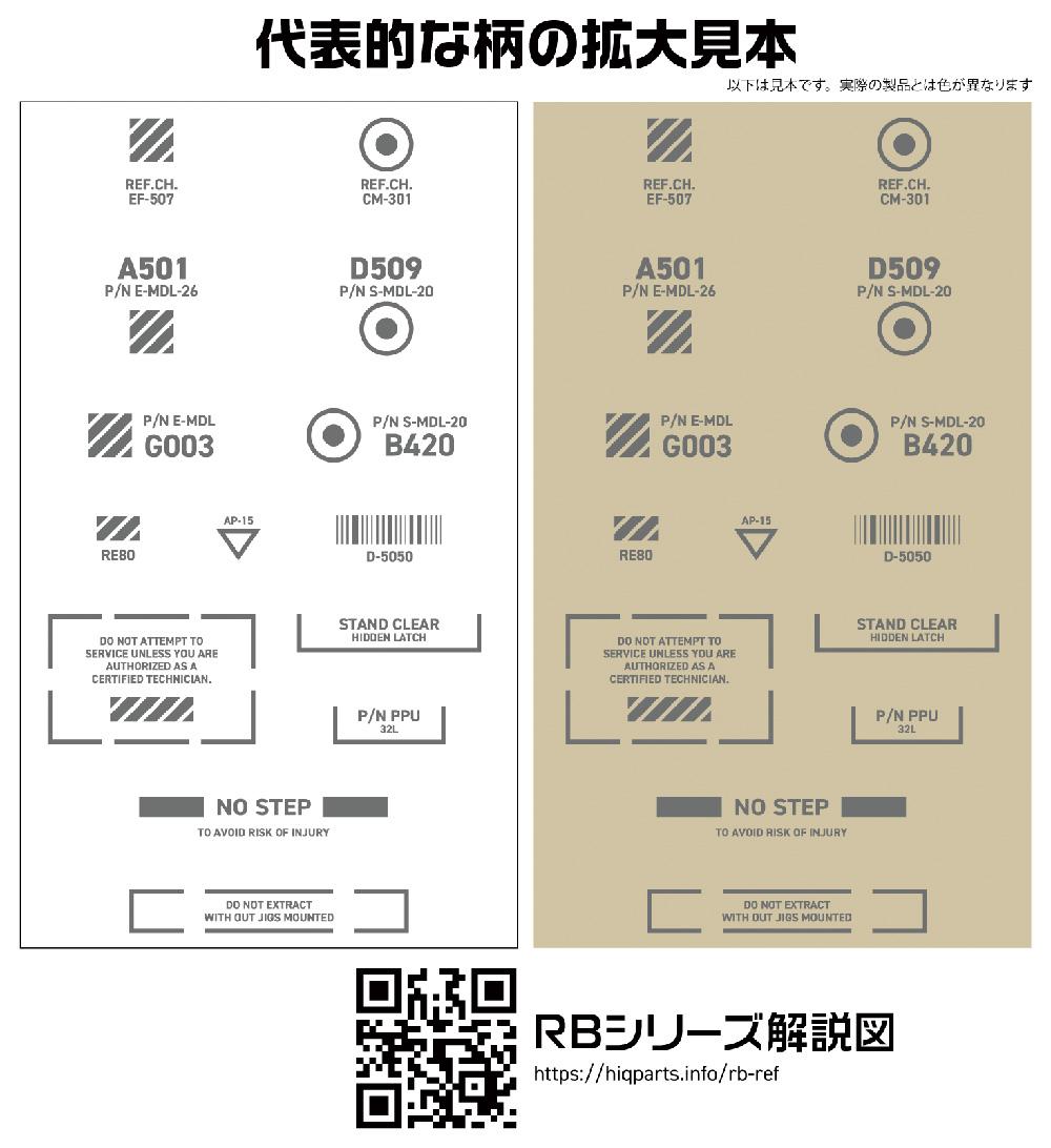 1/144 RB コーションデカール 03 ワンカラー グレーデカール(HIQパーツデカールNo.RB03-144OGR)商品画像_2