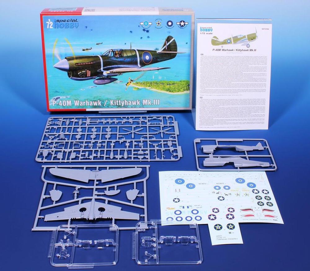 P-40M ウォーホーク / キティホーク Mk.3プラモデル(スペシャルホビー1/72 エアクラフト プラモデルNo.SH72382)商品画像_1