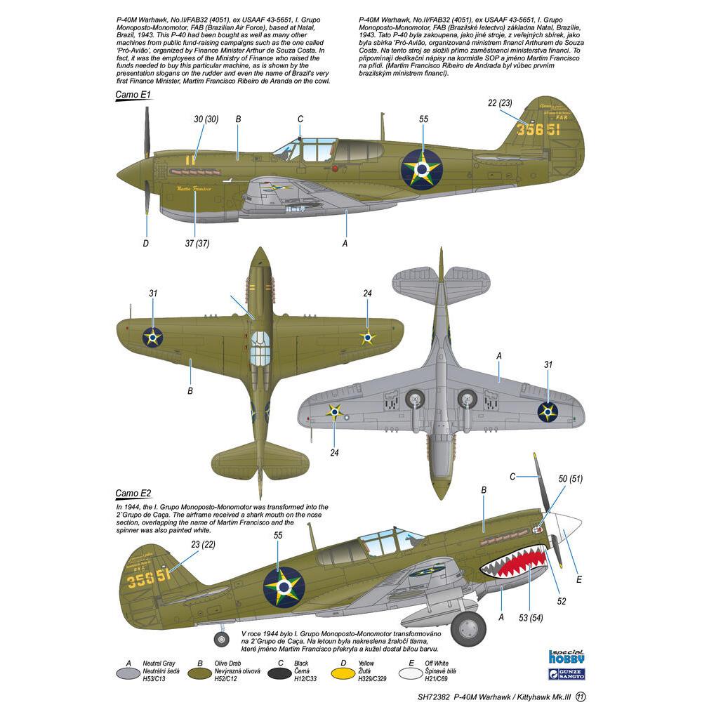 P-40M ウォーホーク / キティホーク Mk.3プラモデル(スペシャルホビー1/72 エアクラフト プラモデルNo.SH72382)商品画像_4