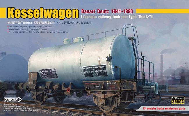 ドイツ鉄道 2軸タンク輸送車両 デウツ社製 1941-1990 (通常版)プラモデル(サーベルモデル1/35 ミリタリーNo.35A004)商品画像