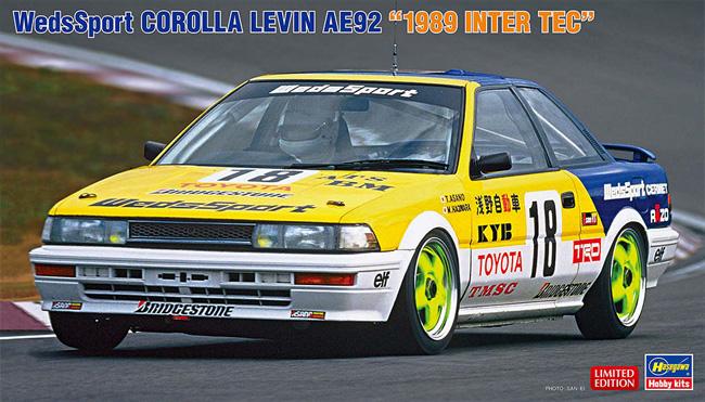 ウェッズスポーツ カローラ レビン AE92 1989 インターTECプラモデル(ハセガワ1/24 自動車 限定生産No.20531)商品画像
