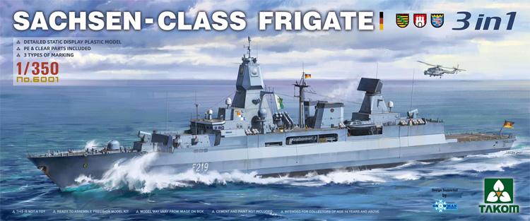 ザクセン級 フリゲート 3in1プラモデル(タコム1/144 ミリタリーNo.6001)商品画像