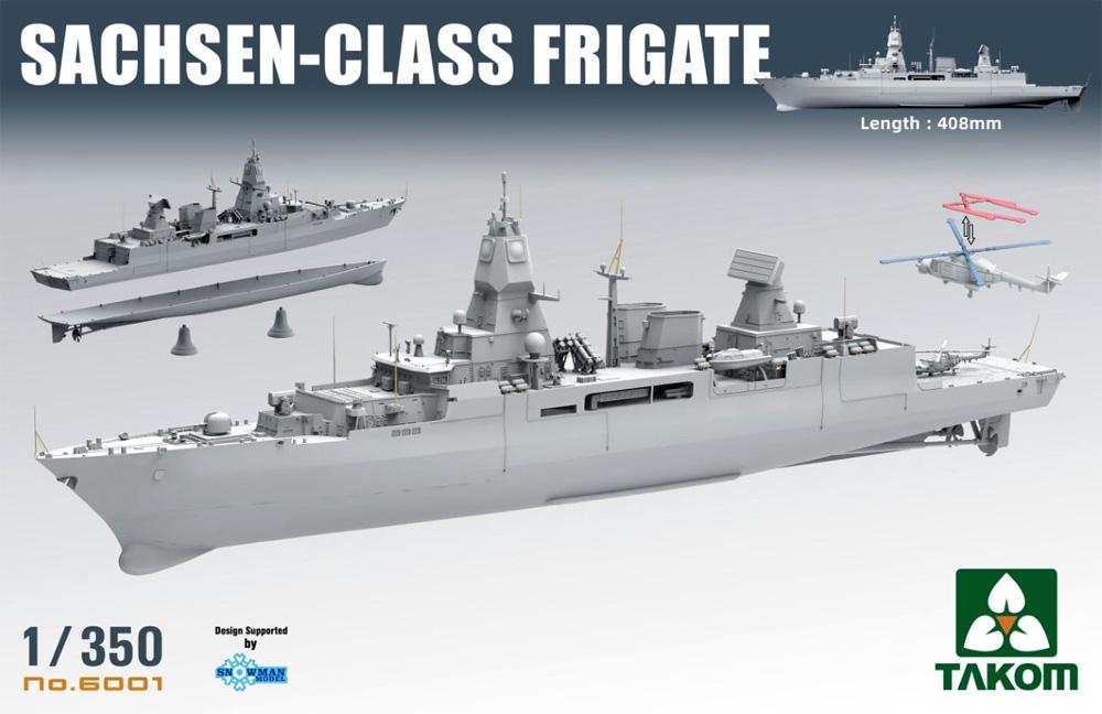 ザクセン級 フリゲート 3in1プラモデル(タコム1/144 ミリタリーNo.6001)商品画像_1