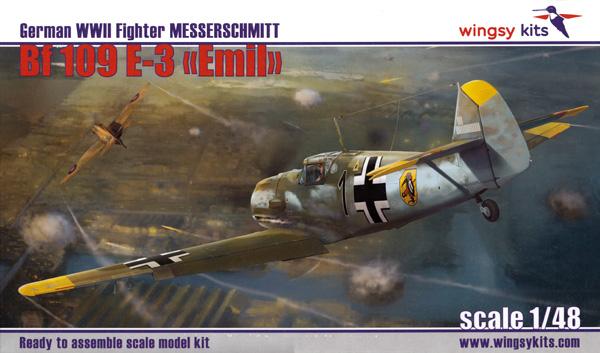 メッサーシュミット Bf109E-3 エミールプラモデル(ウイングジーキット1/48 エアクラフト プラモデルNo.D5-008)商品画像