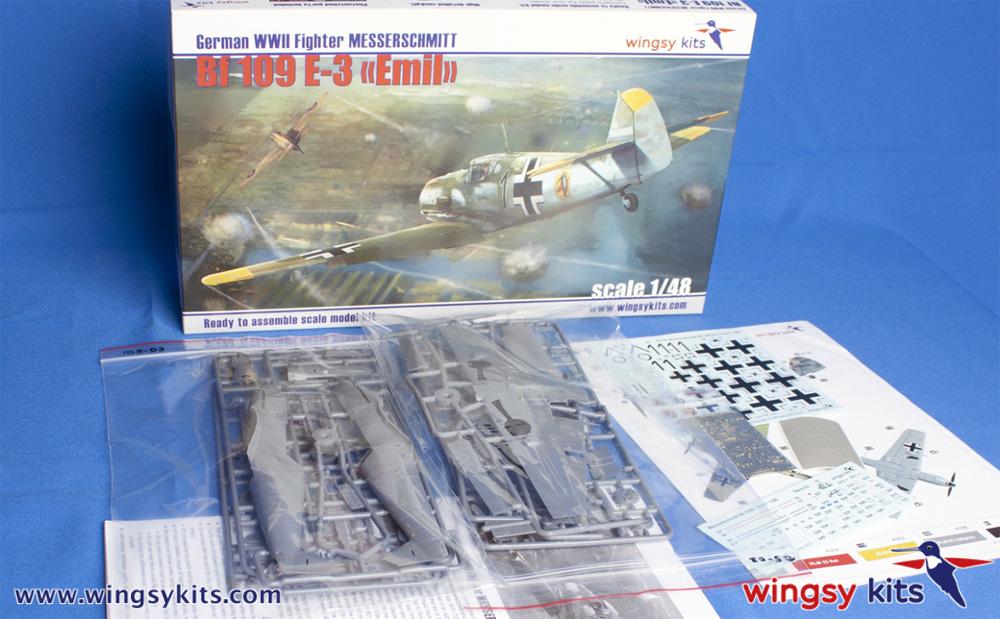 メッサーシュミット Bf109E-3 エミールプラモデル(ウイングジーキット1/48 エアクラフト プラモデルNo.D5-008)商品画像_1