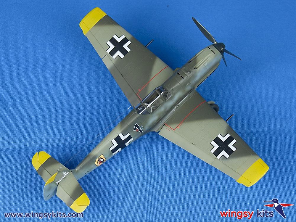 メッサーシュミット Bf109E-3 エミールプラモデル(ウイングジーキット1/48 エアクラフト プラモデルNo.D5-008)商品画像_4