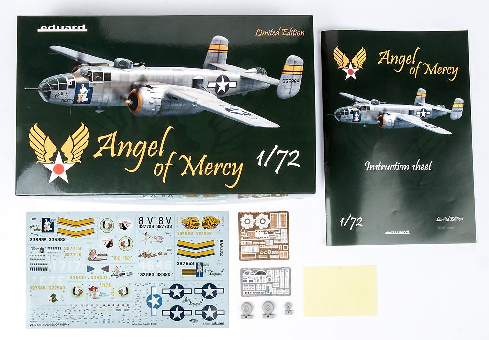 エンジェル・オブ・マーシー B-25Jプラモデル(エデュアルド1/72 リミテッド エディションNo.2140)商品画像_1