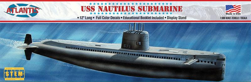 USS ノーチラス 原子力潜水艦プラモデル(アトランティスプラスチックモデルキットNo.L750)商品画像