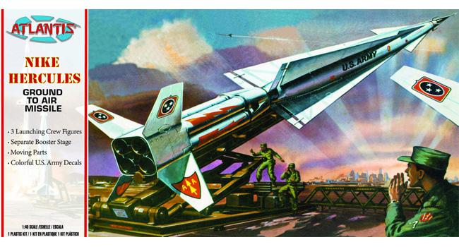 アメリカ陸軍 ナイキ ハーキュリーズ 地対空ミサイルプラモデル(アトランティスプラスチックモデルキットNo.H1804)商品画像
