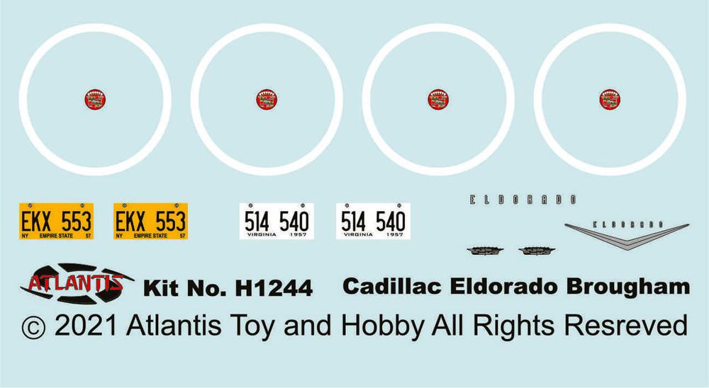 1957年型 キャデラック エルドラド ブロアムプラモデル(アトランティスプラスチックモデルキットNo.H1244)商品画像_1