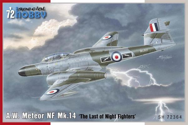 A.W. ミーティア NF Mk.14 最後の夜間戦闘機プラモデル(スペシャルホビー1/72 エアクラフト プラモデルNo.SH72364)商品画像