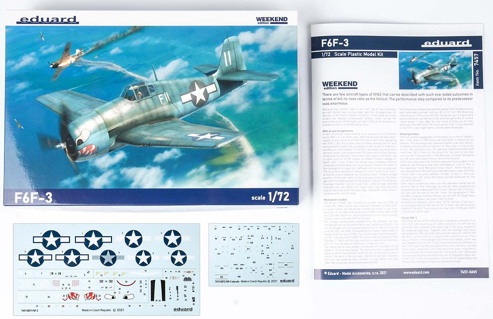 グラマン F6F-3 ヘルキャットプラモデル(エデュアルド1/72 ウィークエンド エディションNo.7457)商品画像_1