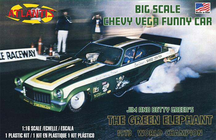 グリーンエレファント ベガ ファニーカー (1973年 ワールドチャンピオン)プラモデル(アトランティスプラスチックモデルキットNo.H1494)商品画像