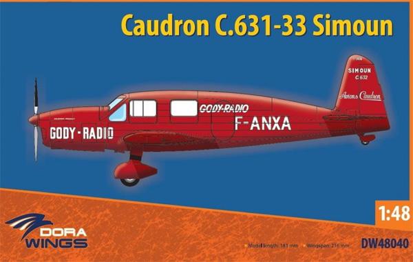 コードロン C.631-33 シムーンプラモデル(ドラ ウイングス1/48 エアクラフト プラモデルNo.DW48040)商品画像