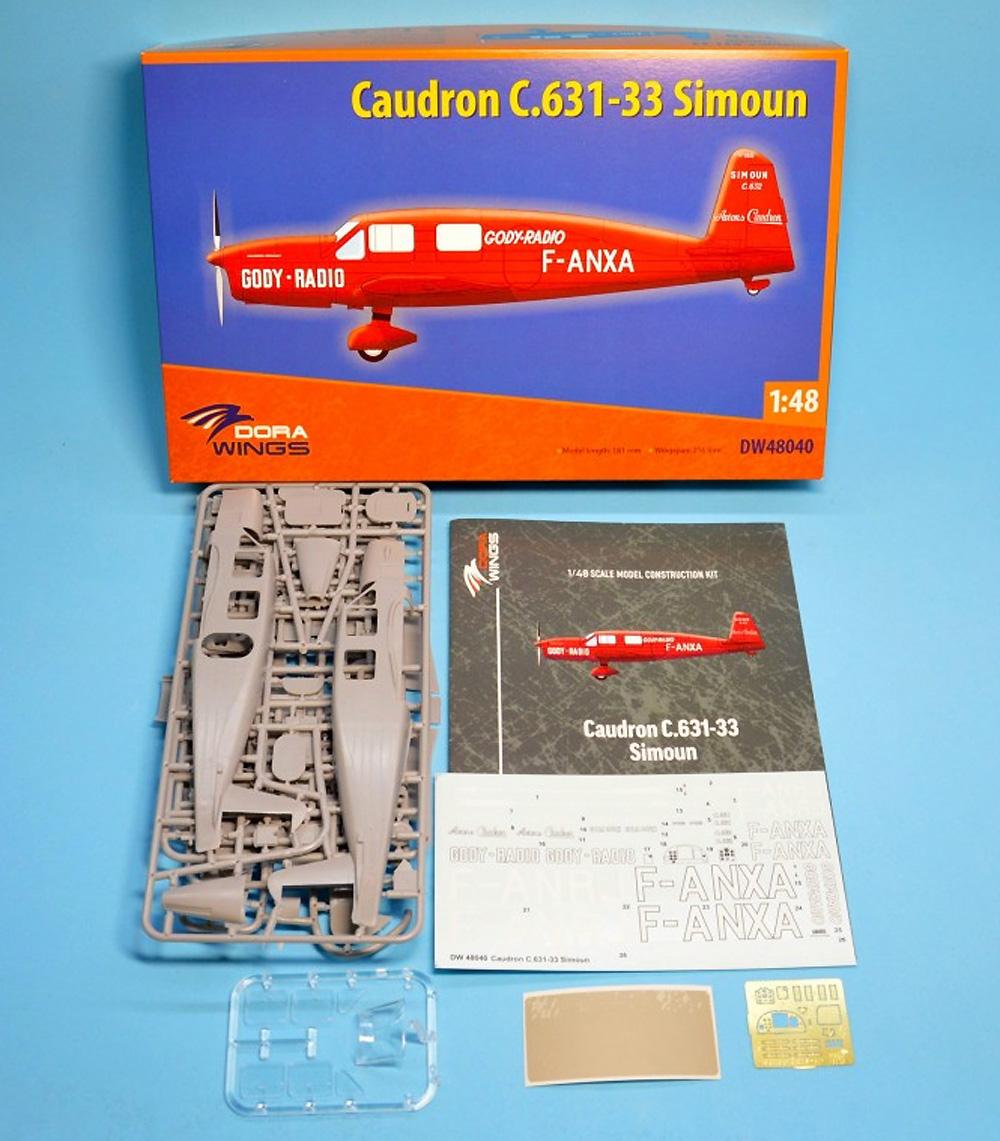 コードロン C.631-33 シムーンプラモデル(ドラ ウイングス1/48 エアクラフト プラモデルNo.DW48040)商品画像_1
