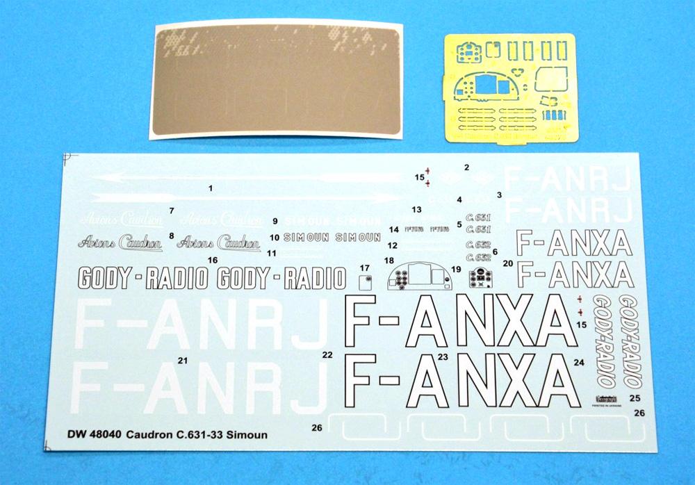 コードロン C.631-33 シムーンプラモデル(ドラ ウイングス1/48 エアクラフト プラモデルNo.DW48040)商品画像_2