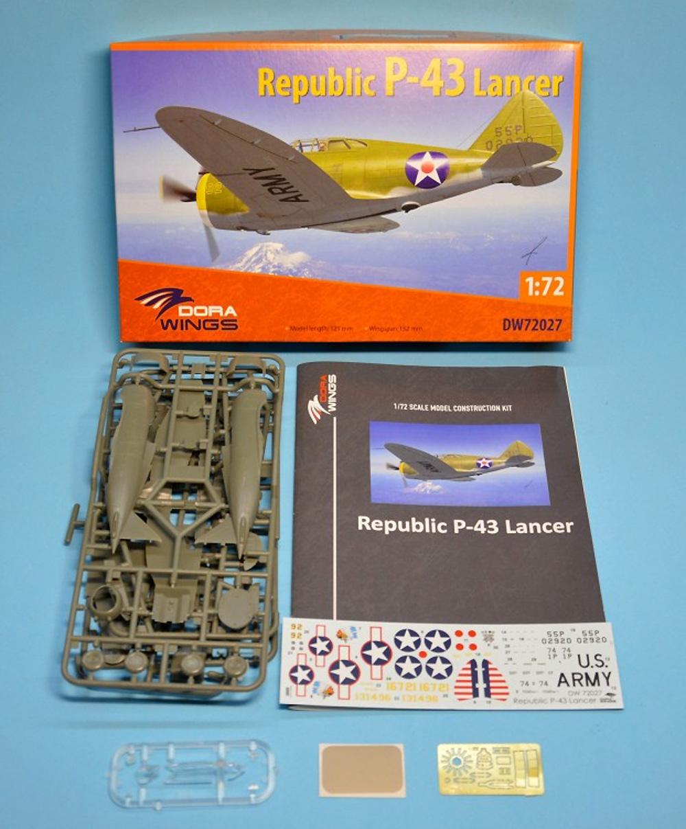 リパブリック P-43 ランサープラモデル(ドラ ウイングス1/72 エアクラフト プラモデルNo.DW72027)商品画像_1