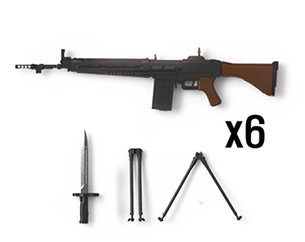 陸上自衛隊 64式小銃 (6丁入)レジン(トリファクトリーアクセサリーNo.ZA-009C)商品画像_1