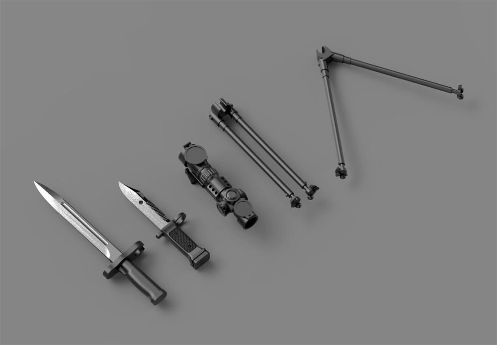 陸上自衛隊 64式小銃 (6丁入)レジン(トリファクトリーアクセサリーNo.ZA-009C)商品画像_3