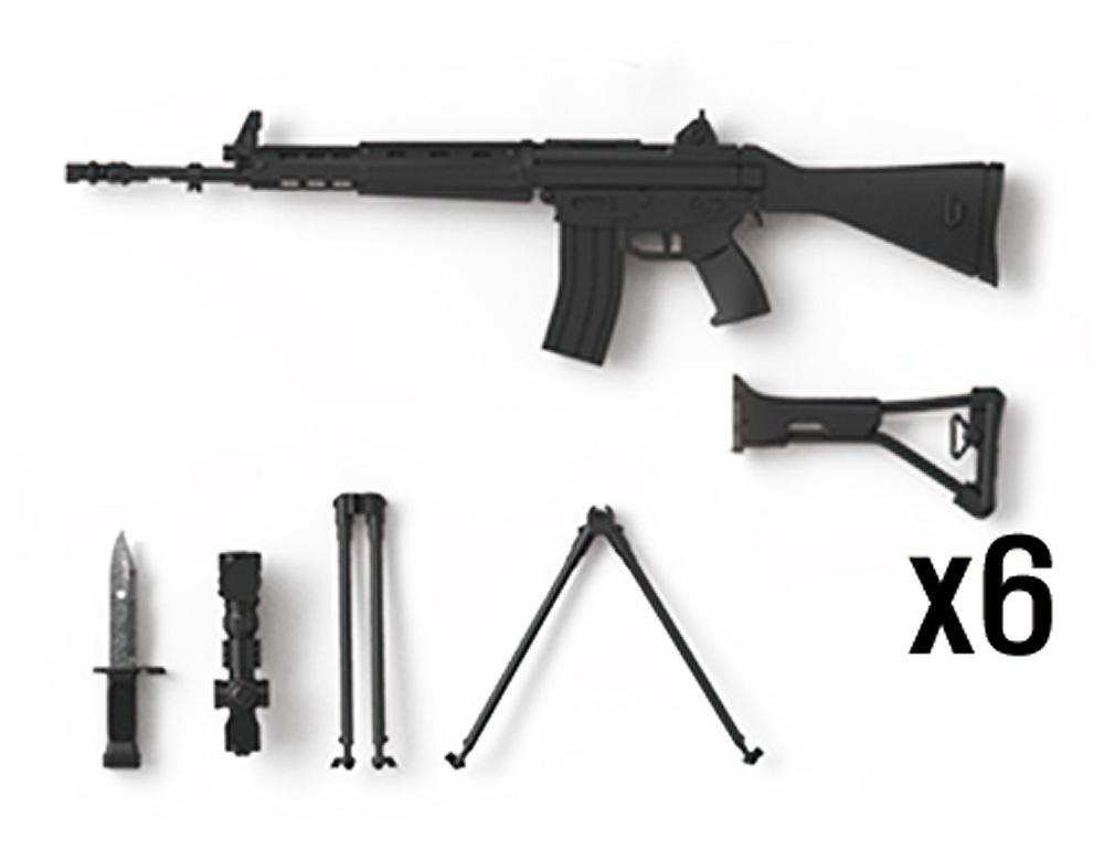 陸上自衛隊 89式小銃 (6丁入)レジン(トリファクトリーアクセサリーNo.ZA-009B)商品画像_1