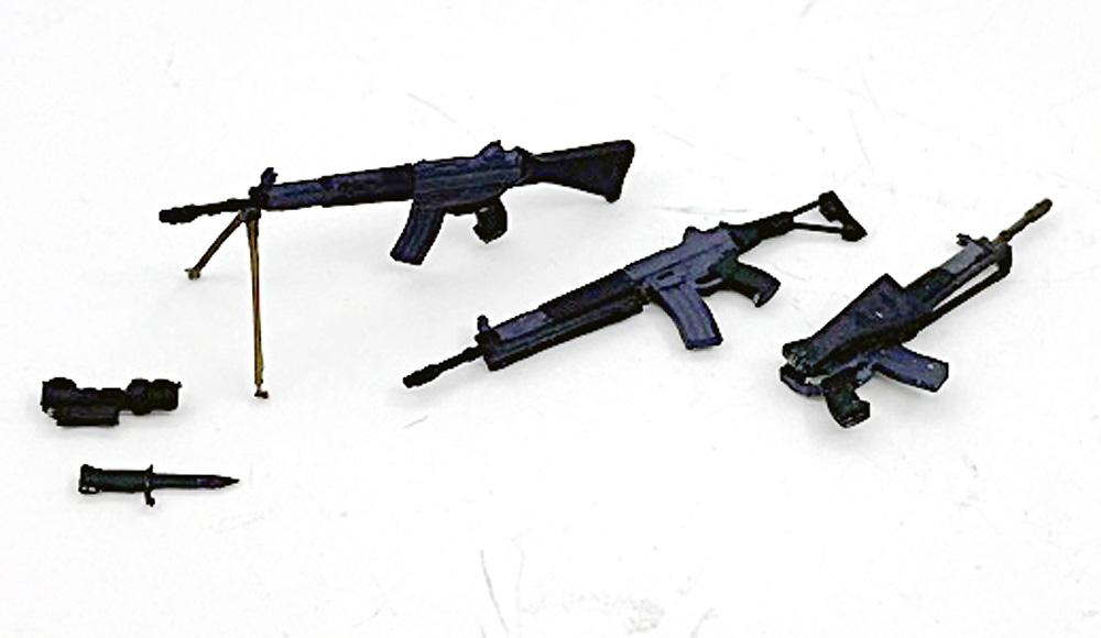 陸上自衛隊 89式小銃 (6丁入)レジン(トリファクトリーアクセサリーNo.ZA-009B)商品画像_2