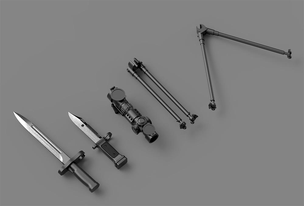 陸上自衛隊 89式小銃 (6丁入)レジン(トリファクトリーアクセサリーNo.ZA-009B)商品画像_3