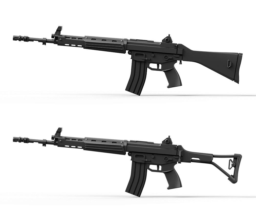陸上自衛隊 89式小銃 (6丁入)レジン(トリファクトリーアクセサリーNo.ZA-009B)商品画像_4