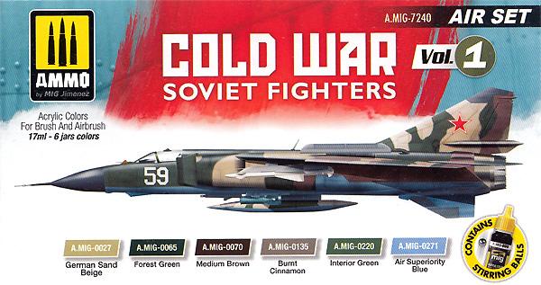 冷戦時のソビエト戦闘機 カラーセット Vol.1塗料(アモAIR SET (Acrylic Color)No.A.MIG-7240)商品画像