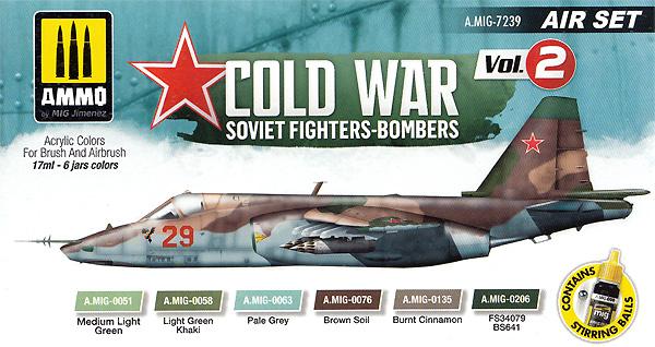 冷戦時のソビエト戦闘爆撃機 カラーセット Vol.2塗料(アモAIR SET (Acrylic Color)No.A.MIG-7239)商品画像