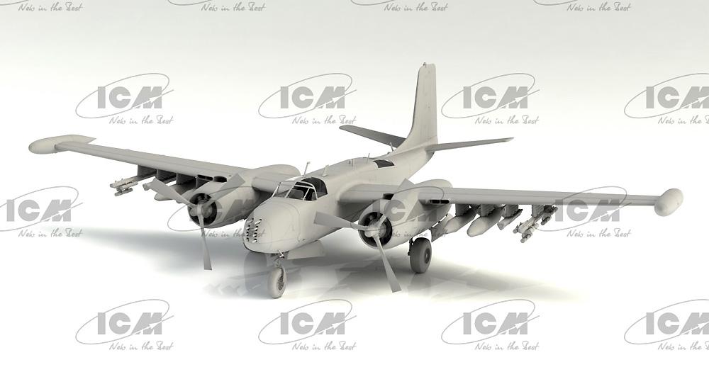 B-26K カウンター インベーダー アメリカ空軍 ベトナム戦争 攻撃機プラモデル(ICM1/48 エアクラフト プラモデルNo.48279)商品画像_4