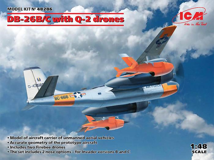 DB-26B/C w/Q-2 ドローンプラモデル(ICM1/48 エアクラフト プラモデルNo.48286)商品画像