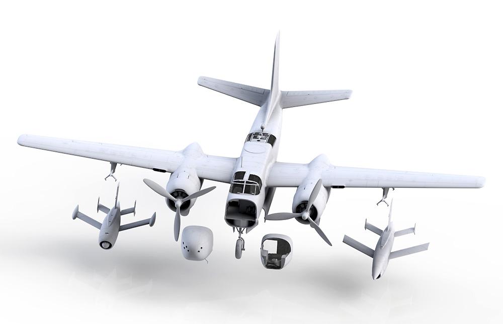 DB-26B/C w/Q-2 ドローンプラモデル(ICM1/48 エアクラフト プラモデルNo.48286)商品画像_1