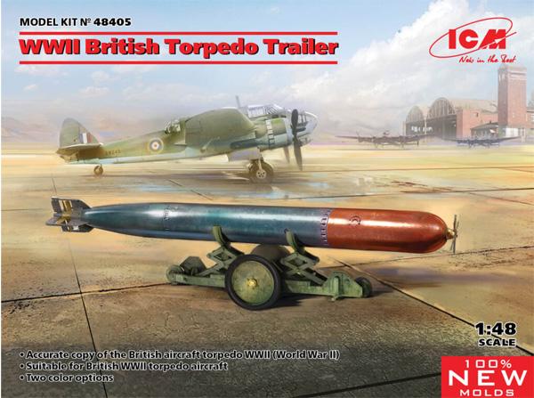 WW2 イギリス 魚雷牽引トレーラープラモデル(ICM1/48 エアクラフト プラモデルNo.48405)商品画像