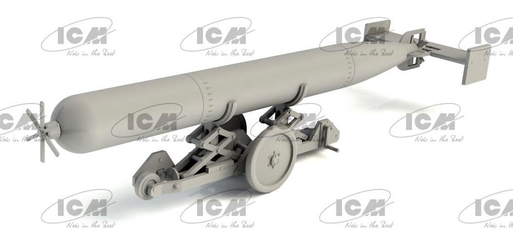 WW2 イギリス 魚雷牽引トレーラープラモデル(ICM1/48 エアクラフト プラモデルNo.48405)商品画像_4