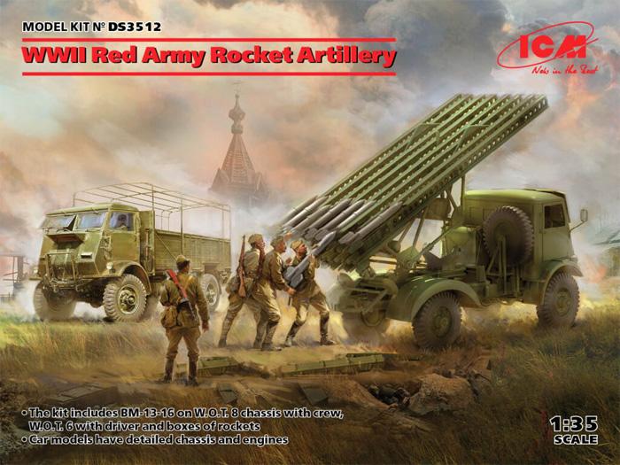 WW2 レッドアーミー ロケット砲 セットプラモデル(ICMダイオラマセットNo.DS3512)商品画像