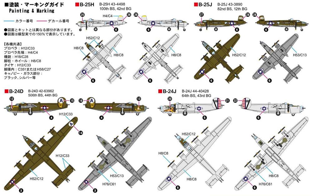 WW2 アメリカ軍用機セット 3プラモデル(ピットロードスカイウェーブ S シリーズNo.S064)商品画像_1