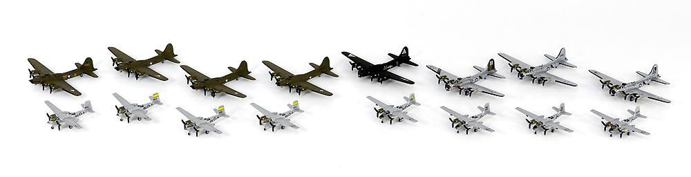 WW2 アメリカ軍用機セット 4プラモデル(ピットロードスカイウェーブ S シリーズNo.S065)商品画像_3