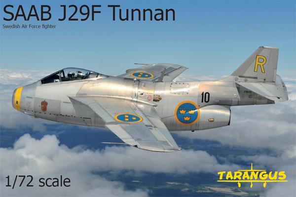サーブ J29F トゥンナンプラモデル(タラングス1/72 エアクラフト プラモデルNo.TA7206)商品画像