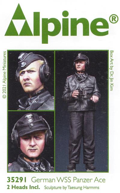 WW2 ドイツ 武装親衛隊 パンツァーエースレジン(アルパイン1/35 フィギュアNo.AM35291)商品画像
