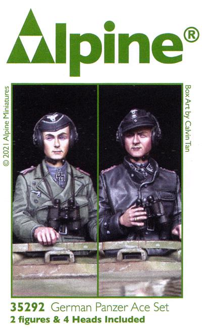 WW2 ドイツ パンツァーエース セット (2体入)レジン(アルパイン1/35 フィギュアNo.AM35292)商品画像