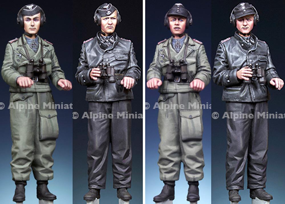 WW2 ドイツ パンツァーエース セット (2体入)レジン(アルパイン1/35 フィギュアNo.AM35292)商品画像_1