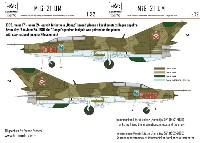 HAD MODELS1/32 デカールMiG-21UM ハンガリー空軍 #5091 デカール
